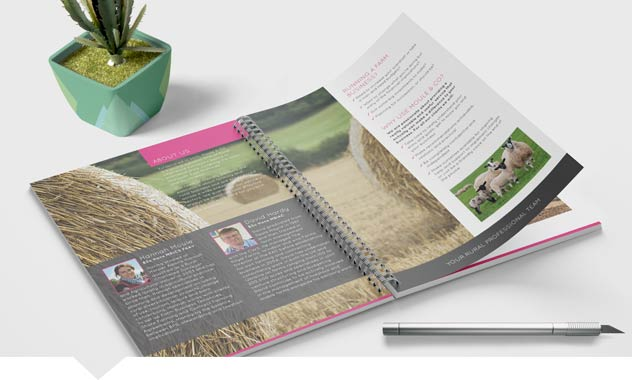 A5 Wire Bound Brochures