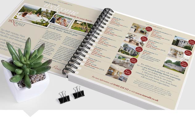 210mm Square Wire Bound Brochures