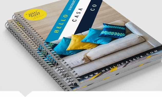Wire bound brochures